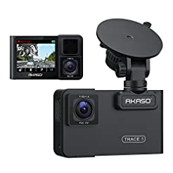 AKASO Trace 1 Dual Dash Cam for Cars, Ca...