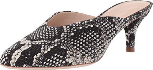 Loeffler Randall Women's Juno Kitten Heel Mule Graphite Embossed Leather 6.5 B US