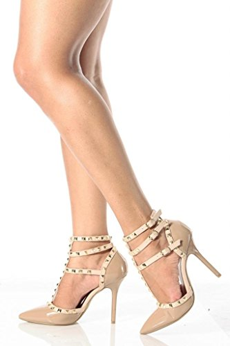 Sully'S Adora-55N D-Orsay Pumps-Shoes, Natural Patent Pu, 10