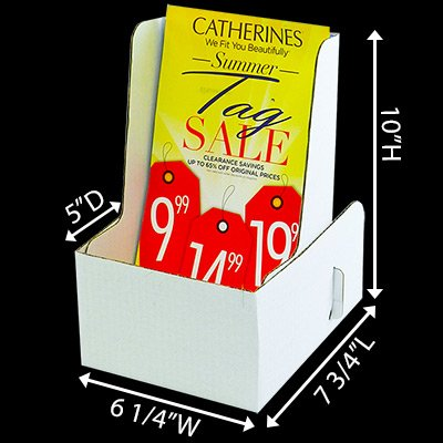 Cardboard Booklet Holder Deep - Holds 6 x 9 Booklets (Carton of 25) by Affordable Display Products