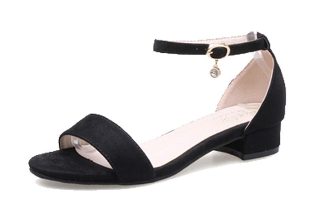 Femaroly , Sandales pour pour Femme Black(heel Sandales , 3cm) 79dfd09 - reprogrammed.space