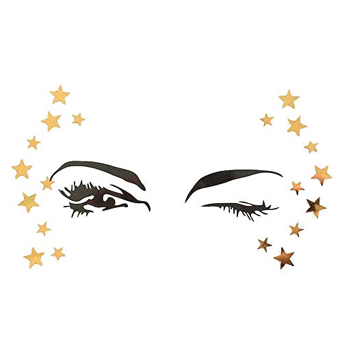 Face Jewels Tattoo,Face Sticker,callm Body Stickers Face Gems Adhesive Glitter Jewel Tattoo Wedding Festival Rave Party Body Make Up (R)