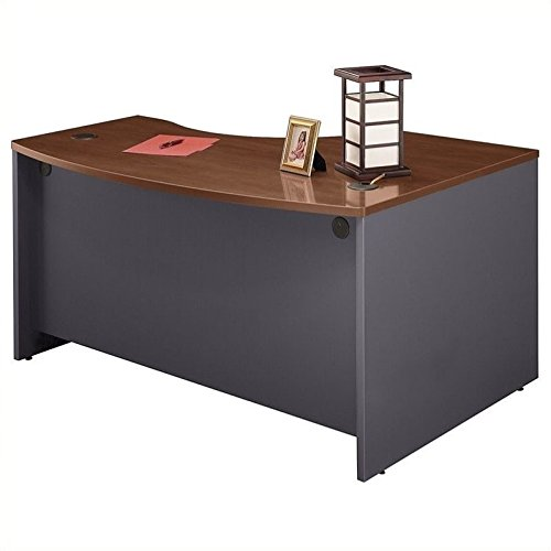 Bush Business Furniture Series C Collection 60W x 43D Left Hand L-Bow Desk Shell in Hansen Cherry by Bush Business Furniture