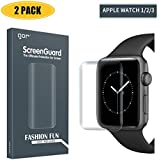 【2-Pack】 Screen Protector Compatible Apple Watch 3/2/1,iWatch Full Coverage PET+TPU Screen Protector Compatible Apple Watch Series 3/2/1 38mm - HD Clear,Ultra-Thin,Anti-Scratch,Anti-Bubble