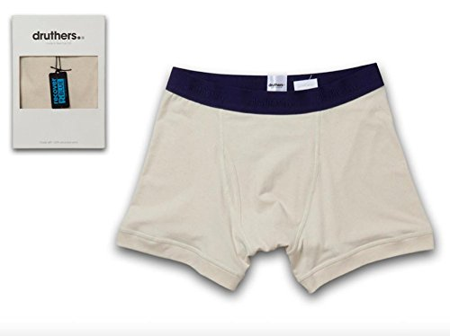 Tailored Boxer Briefs for Men / Eco-Friendly Recycled Organic Cotton / Made in USA (natural large) ()