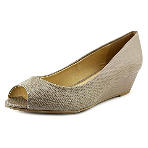 Lizard Pump Hartley by PR Laundry CL Chinese Wedge Floral Women's Taupe vH6wqS