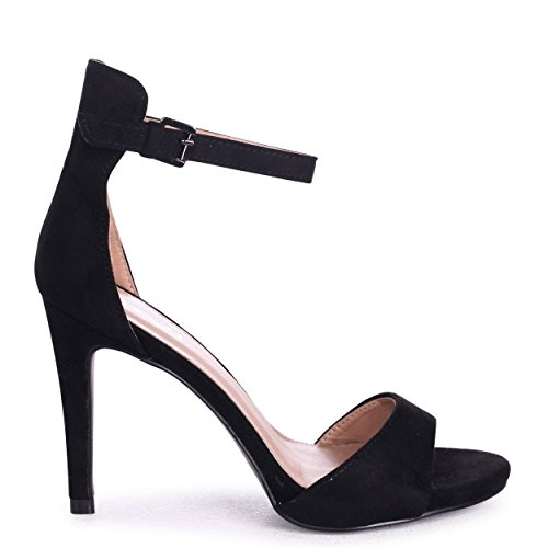 Talia - Black Suede Barely There Heel Black Suede LOojyX