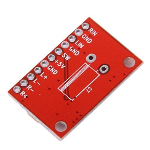 Rosso Pixnor Alta Potenza 3W 2 Canali Super Mini Amplificatore Audio Digitale Scheda Circuito