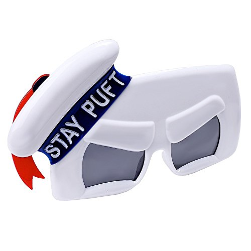 Sunstaches Ghostbuster's Stay Puff Marshmallow Man Sunglasses, Party Favors, (Marshmallow Man Ghostbusters Costumes)
