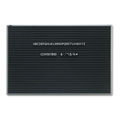 Quartet - Magnetic Wall Mount Letter Board 36 X 24 Black Gray Aluminum Frame ''Product Category: Presentation/Display & Scheduling Boards/Changeable Letter Boards''