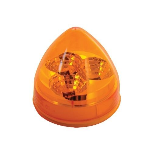 Amber Lens GG Grand General 77670 2.5 Inch Spyder Am Beehive 3 Led with Cr Rim /& Pigtail