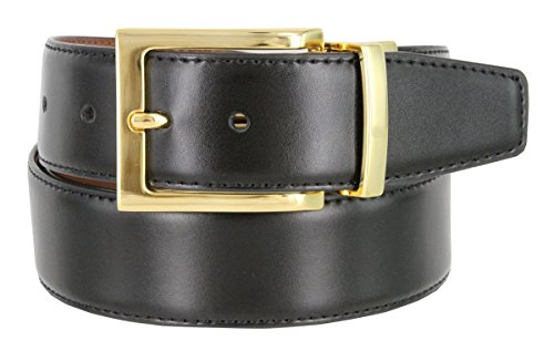 Men's Reversible Genuine Leather Dress Casual Belt 1-3/8