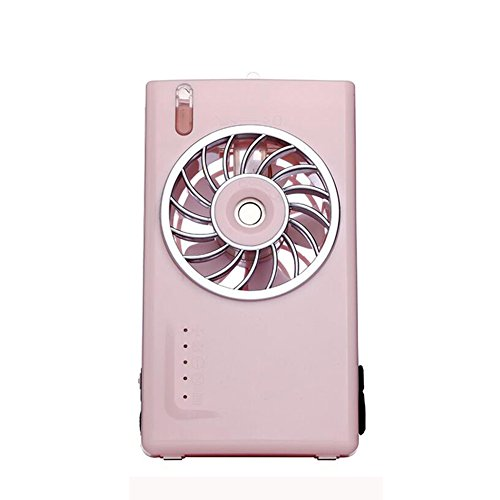 FH Small Air Conditioner Mini Cooler Electric Fan Mini Student Dorm Room Office Chargeable Portable Spray blower fans box fans floor fans pedestal fans (Color : Pink, Size : - Room Electric Cooler