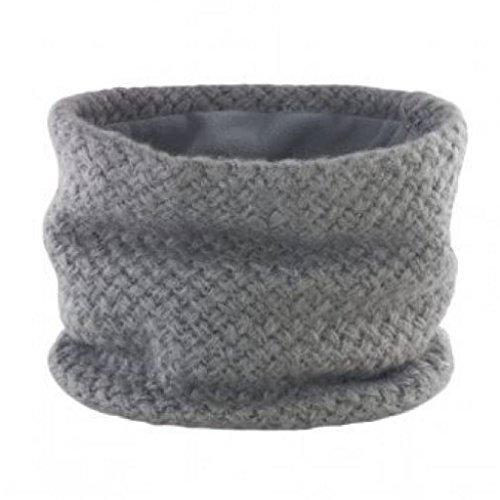 Winter Braided Sciarpa Micor Disponibile Colletto Unica grigio sci Fleece Slip Donna o in taglia da nero Snow Grigio Knit Inner On Tube XwBP4tq
