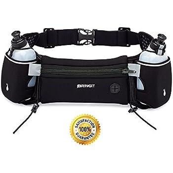 Running Belt With 10oz BPA-Free Running Water Bottles, Running Hydration Belt Fits iPhone 6s Plus, Adjustable Waist Water Belt