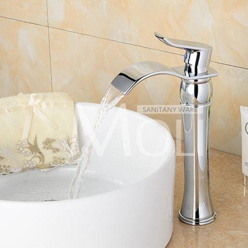 W913 Jduskfl Faucet Kitchen Faucet Net Faucet Bathroom Faucet Free Shipping pink gold Black Bathroom Faucet Deck Mounted Soild Brass Vessel Sink Waterfall Tap Single Holder Mixer,Rt11W