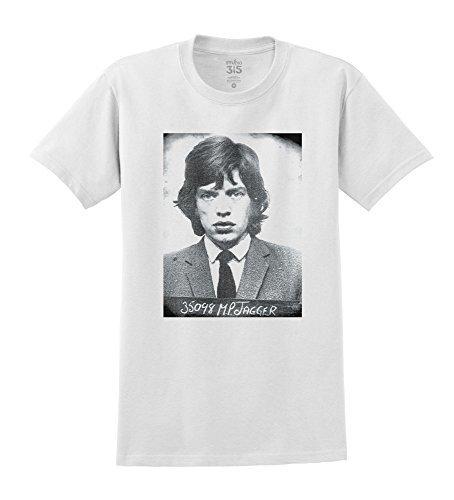 Herren Mick Jagger Fahndungsfoto T-Shirt