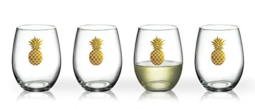 (Luminarc Arc International Aloha Gold Pineapple Bulk Perfection Glass (Set of 6), 17 oz, Clear)