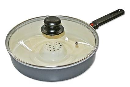 gendisc Cacerola con mango y tapa de cocina de vapor sartén de cerámica para todos los