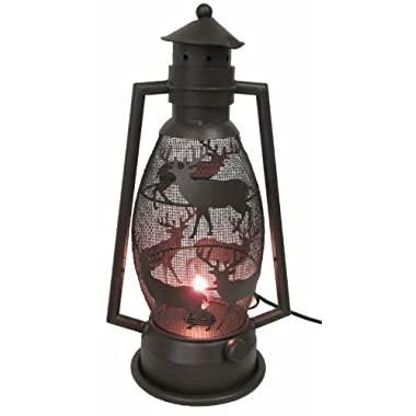 De Leon Collections Metal Deer Lantern Light