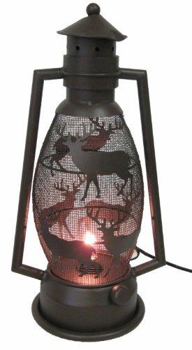 (De Leon Collections Metal Deer Lantern Light)