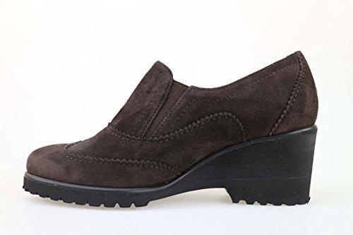 Zapatos Mujer MUSELLA 33 Zapatos Elegantes Marrón oscuro Gamuza AM869