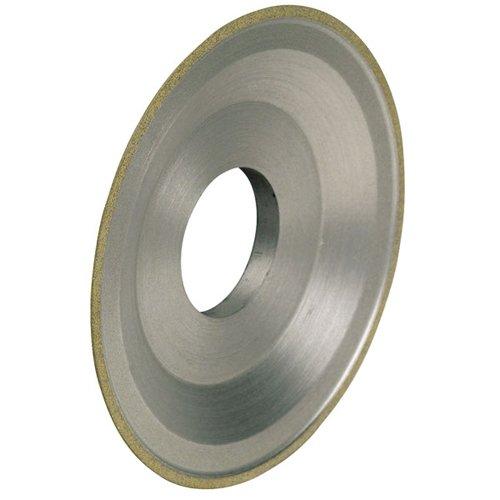 TTC Dish Style Diamond Wheel - WHEEL DIAMETER: 6'' WHEEL THICKNESS: 3/4'' Hole Diameter : 1-1/4'' Diamond Depth: 1/8'' Insert Length: 1/4'' Rim Width: 1/4'' 100 Grit