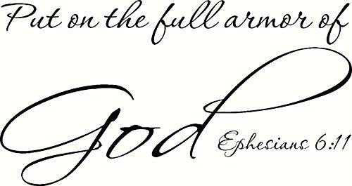 Ephesians 6:11 (CV Option 2) Wall Art, Put on the Full Armor of God, Creation Vinyls