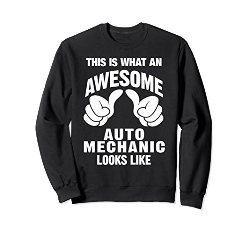 Black Mechanics Style Gloves (Unisex Auto Mechanic Awesome Looks Like Sweatshirt Medium Black)