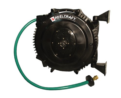 Reelcraft Swa3850 Olp 1 2 Inch By 50 Feet Spring Driven Pvc Hose Reel For Water