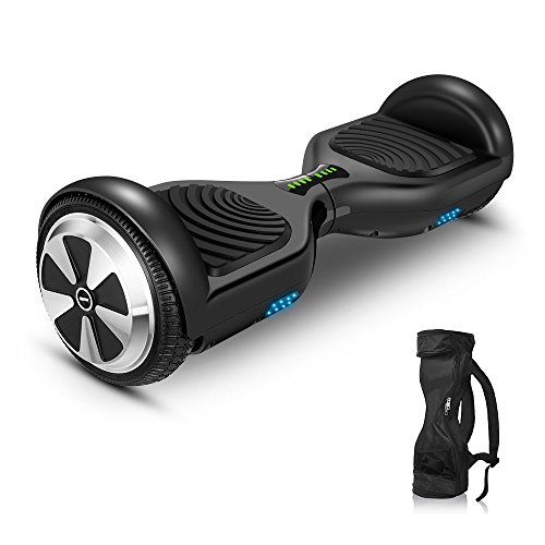 Hoverboard Two-wheel Self-balancing Scooter with Backpack-VEEKO UL2272 Certificated 6.5''Aluminum Alloy Wheels,350W Dual Motor for 9.6Km/hr Max Speed and 225lbs Max Weight