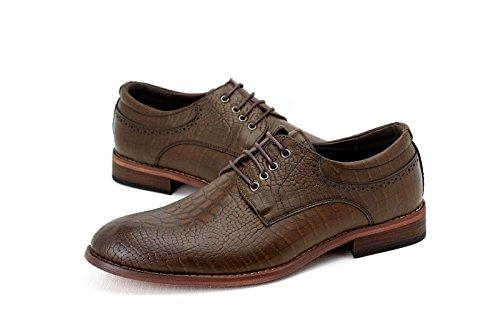 CABALLEROS NUEVO Oxford Casual Elegante Zapatos Encaje formal Derby Oficina Boda Tamaño RU Marrón