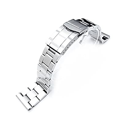 19mm Super Oyster watch band universal straight end version, Solid Submariner Clasp by Taikonaut