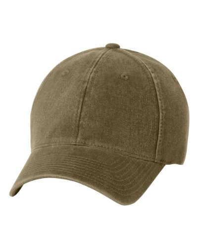 Flexfit/Yupoong Men's Low-Profile Unstructured Fitted Dad Cap, Loden Large/X-Large