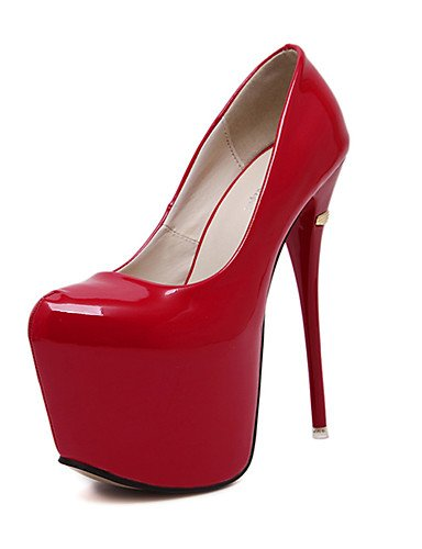 GGX/Damen Schuhe Fall Heels Rund Toe Heels Party & Abend/Kleid Stiletto Heel andere schwarz/blau/rot/ red-us5.5 / eu36 / uk3.5 / cn35