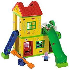 PlayBIG Bloxx - Peppa Wutz - Spielplatz - Spielset mit Peppa Pig Spielfiguren, kompatibel mit bekannten Bausteinen