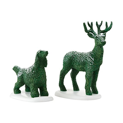 (Department 56 Accessories for Villages Tudor Garden Animal Topiary Figurine)