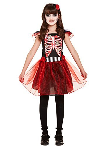 Henbrandt Halloween Girl Costume Skeleton Age 10-12 Years ()