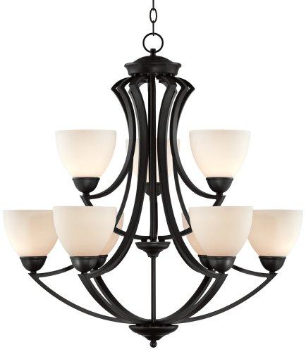 Milbury Collection Dark Bronze 9-Light 3 - Art Deco Bronze Chandelier Shopping Results