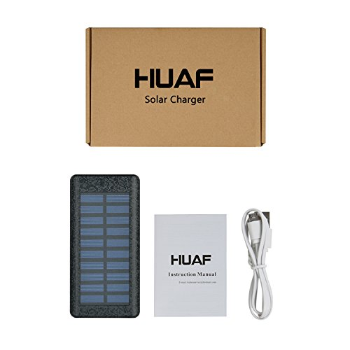 Solar Charger 24000mAh HuaF Power Bank Portable Charger Battery Pack With Dual Recharge Methods By Socket By Light For iPhone, iPad, Tablet, Samsung Galaxy, Android Phone And More by HuaF (Image #6)