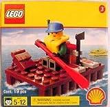 legos gas station - Lego SHELL Promotional Set #3: River Raft Set #2537