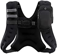 Z ZELUS Weighted Vest 20lbs/ 16lbs/ 12lbs. Weight Vest with Reflective Stripe for Workout, Strength Training,