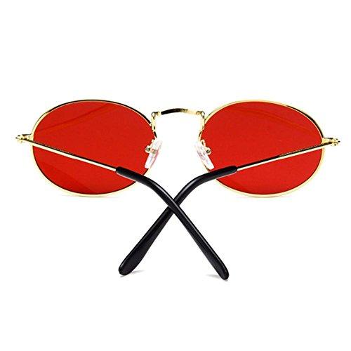 Ovale rouge de Or Forme Femme iShine Verres Polarisantes Cadre Lunettes Soleil Fumés Plein Non en Lunettes 6qYqZxw