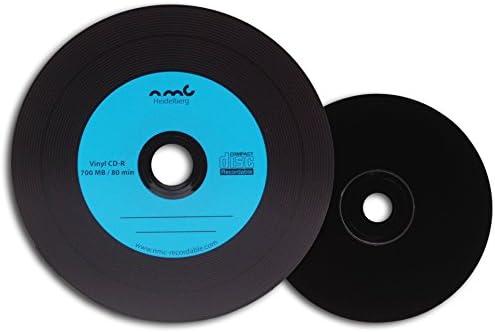 NMC - Vinilo CD-R (parte trasera de CD en negro, 700 MB, 25 unidades, CD virgen), varios colores: Amazon.es: Informática