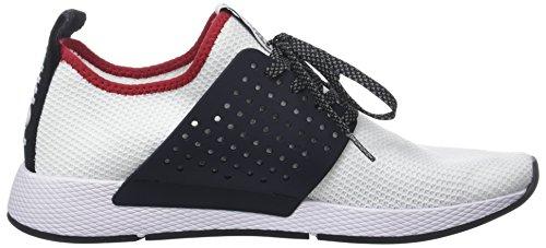 Hilfiger Denim Jeans Mannen Tommy Breien Sneaker Wit (rwb 020)