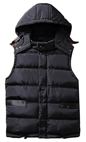 Down Sleeveless Hooded today Vest Zip Quilted UK 4 Front Mens qxx04fT