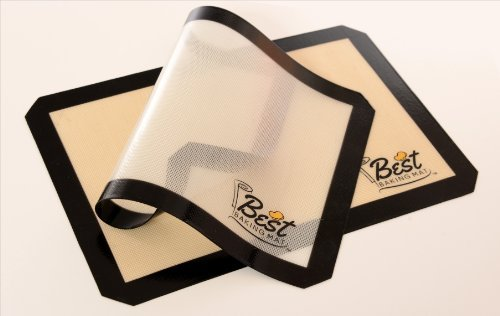 Silicone Baking Mat Set of 2 Non-Stick Reusable Cookie Baking Sheets 16.5'' by 11.5''