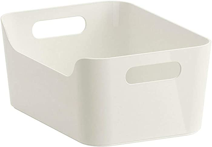 Ikea Variera Convenient Kitchen Open Storage Box, High Gloss White