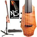 NS Design CR5 Electric 5-String Cello With Amber Finish