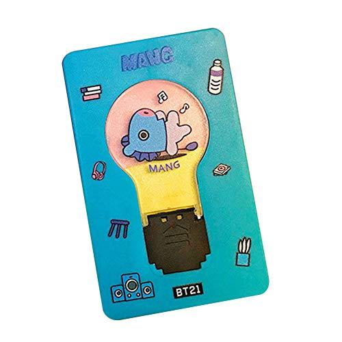 Youyouchard Kpop BTS Twice GOT7 Blackpink TXT EXO Seventeen Night Light Mini Led Card Portable Card Pocket Light Lamp LOMO Card(BTS MANG) from Youyouchard